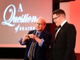 656456-17 : ©Lionel Heap : 2016 A Question of Brains Charity Evening in Aid of Steps : Magic... world renowned magician from the USA Bill Herz (left) entertains.