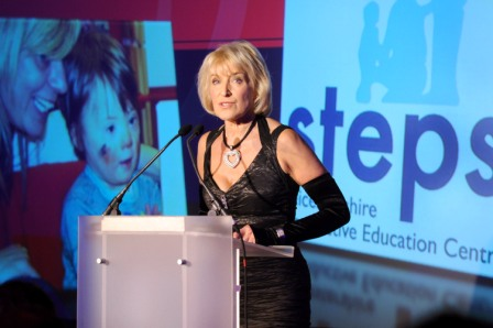 656219-2 : ©Lionel Heap : News : A Question of Brains Charity Event in Aid of Steps : Emotional.... event organiser and Steps patron Rosemary Conley struggles to hold back the tears as she talks about charity and it's work.