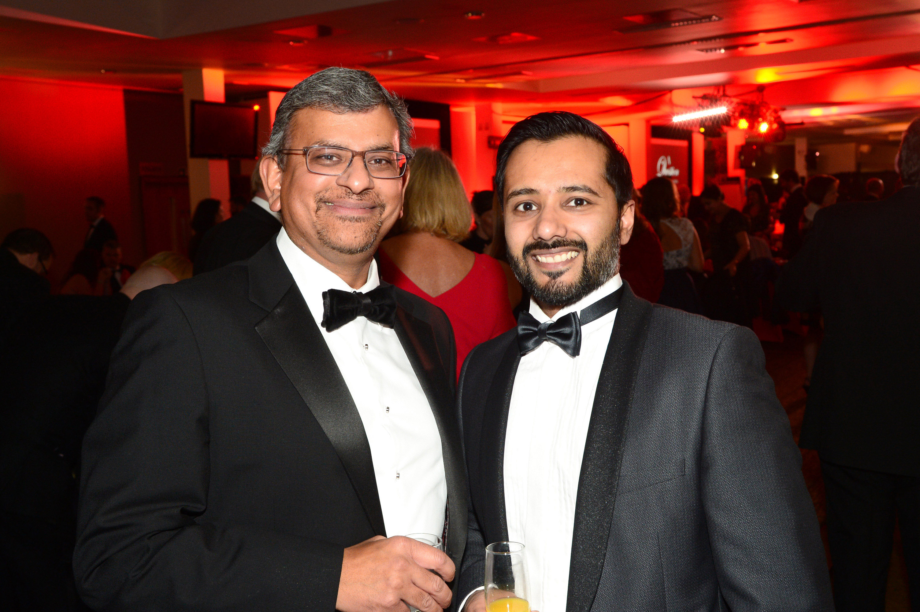 656456-07 : ©Lionel Heap : 2016 A Question of Brains Charity Evening in Aid of Steps : L-R Mukesh Patel and Rik Pancholi.